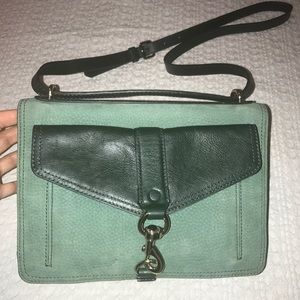New Rebecca Minkoff Hudson Moto Green Crossbody